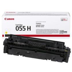 Заправка картриджа Canon 055H Yellow + чип