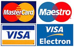 Принимаем к оплате банковские карточки